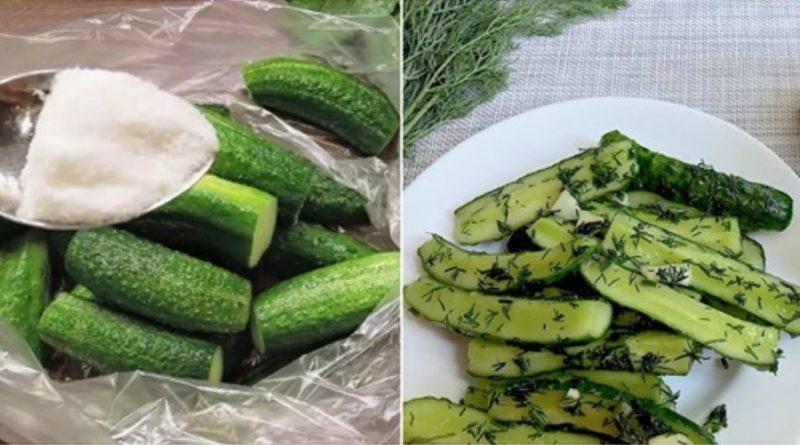 Малосольні огірки, які можна їсти вже через 30 хвилин. Це дуже смачно і швидко