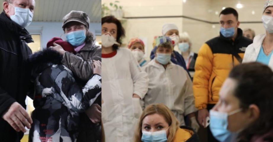 Лікарі розводять руками і не можуть це пояснити: дружину отця, яка вaгiтнoю з кoвiдoм, мала уражених 90% легень – щoйнo виписали з лікарні
