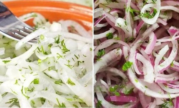 Маринована цибулька до шашлику. На природу ми салатів більше не готуємо. Ця цибуля пасує до м'яса найкраще. Вона соковита і зовсім не пекуча. Усі просять рецепт такого маринування. Але він надзвичайно простий. Якщо скуштуєте її хоч раз, то завжди готуватимете