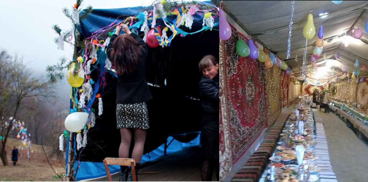 Чи пам'ятаєш ти старе сільське весілля в палатці чи на площадці? Таке справжнє, без лімузинів і ресторанів?