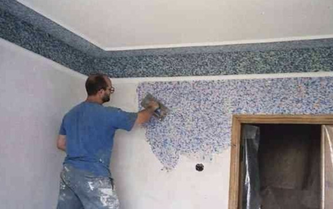 Робимо «рідкі шпалери» своїми руками. Дана техніка виготовлення «рідких шпалер» відмінно підійде , якщо стіни «не дуже рівні»