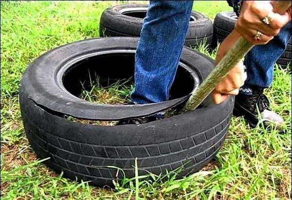 Оригінальні садові доріжки з шин, своїми руками: інструкція та фото