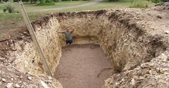 Всі думали, що він копає яму під басейн. Коли сусіди побачили, що вийшло в результаті, то втратили дар мови!